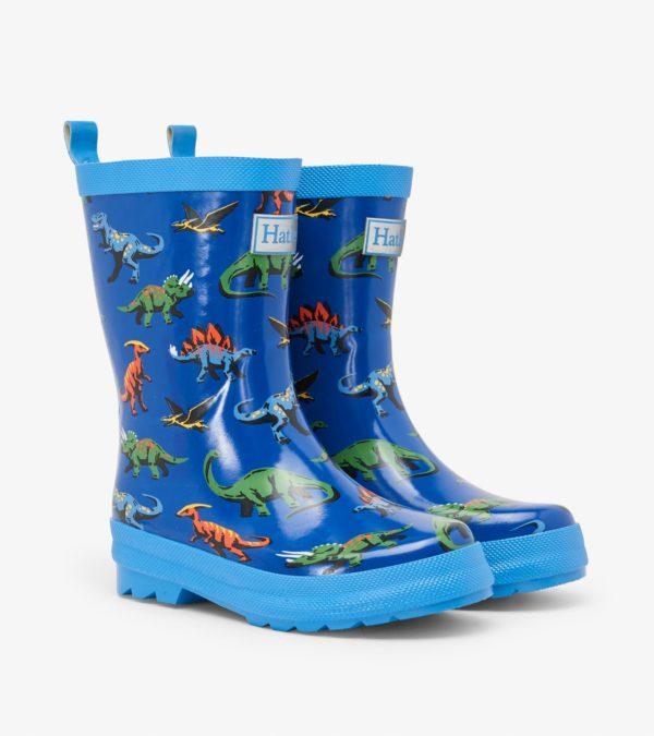 Hatley Friendly Dinos Shiny Rain Boot