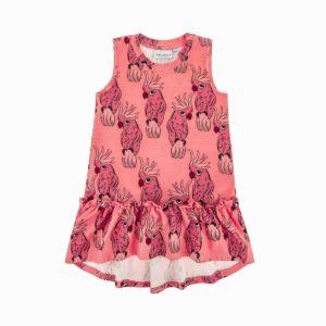 Dear Sophie Pink Parrot Dress