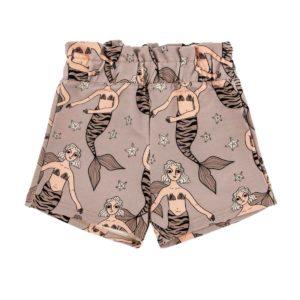 Dear Sophie Purple-Grey Mermaid Paper Bag Shorts