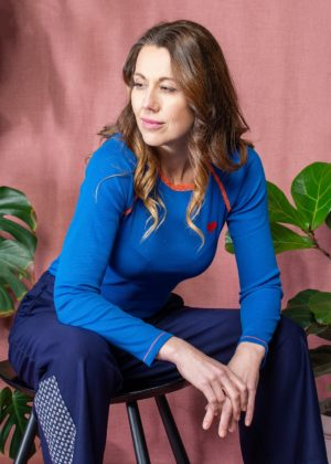 Alba Ladies My All Time Favourite Long Sleeve Top - Snorkel Blue