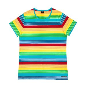 Villervalla New York Stripe ADULT Short Sleeve Top