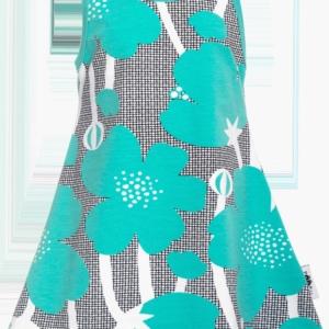 Paapii Turquoise Buttercup Print Helina Dress