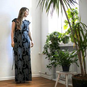 Paapii Grey Cheetah Print Ilris Dress