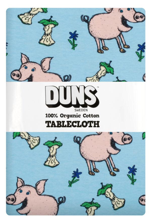 Duns of Sweden Blue Pig Tablecloth