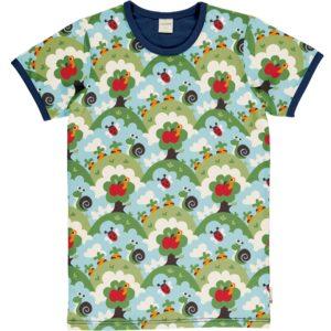 Maxomorra Garden Print ADULT Short Sleeve Top