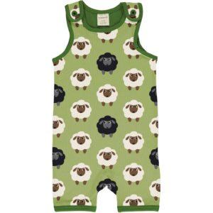 Maxomorra Green Sheep Print Short Playsuit