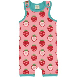 Maxomorra Strawberry Print Short Playsuit