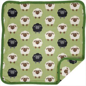 Maxomorra Green Sheep Print Cushion Cover