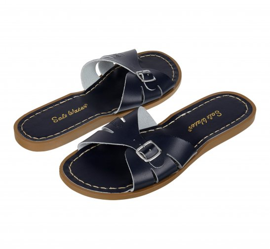 Saltwater Navy Womens Classic Slide Sandals Size UK 6