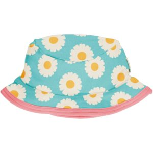 Maxomorra Pale Blue Daisy Print Sun Hat