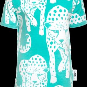 Paapii Turquoise Cheetah Print Haiku T Shirt