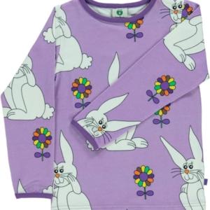 Smafolk Viola Rabbit Print Long Sleeve Top