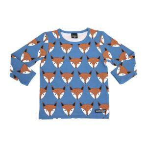 Villervalla Mid Marine Fox Print Long Sleeve Top
