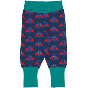 Maxomorra Bat Print Rib Pants
