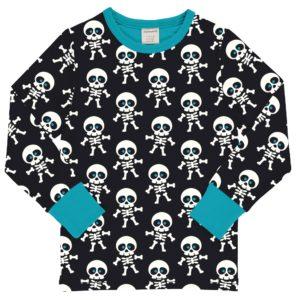 Maxomorra Classic Skeleton Print Long Sleeve Top