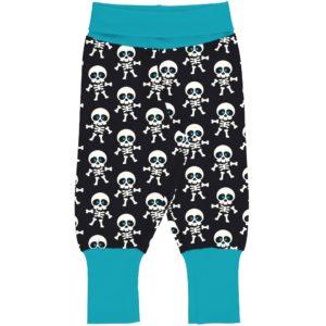Maxomorra Classic Skeleton Print Rib Pants